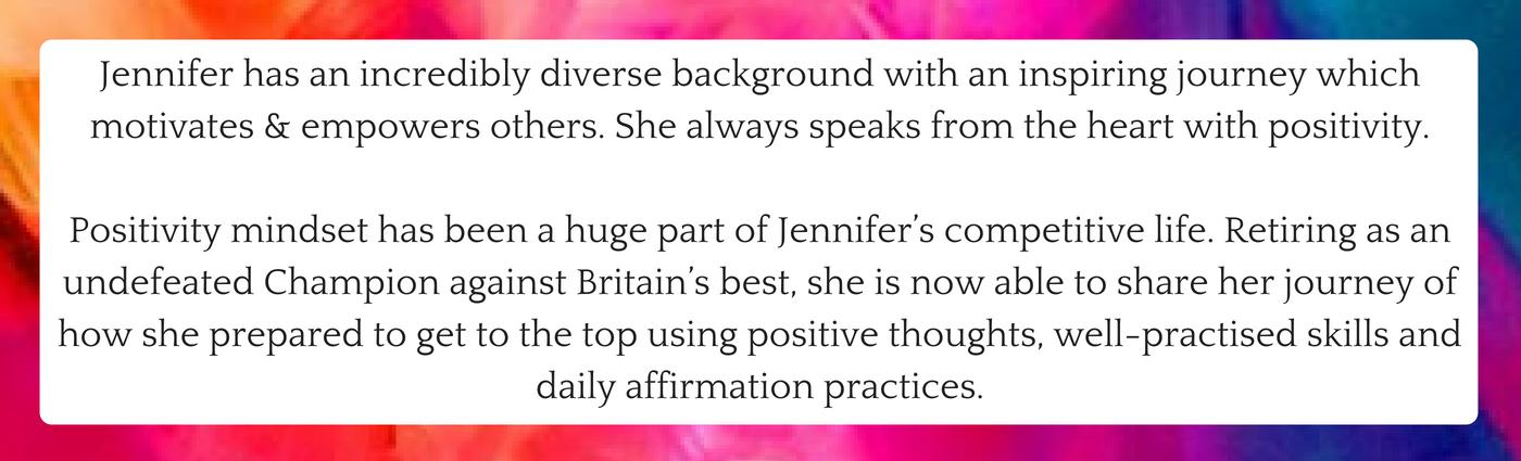 Jennifer Barnfield - Motivational Talks